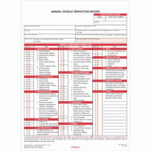 JJ Keller DOT Annual Inspection Form