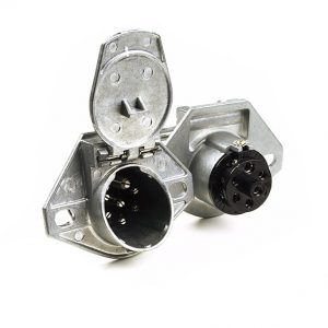 7 way Split Pin Round Trailer Socket Grote 82-1002