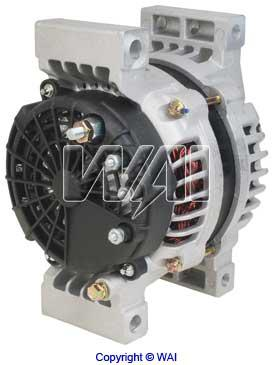WAI 8741N New Alternator 28 SI 200 amp, 120 amps at Idle Pad Mount 8741
